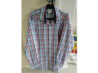 TM LEWIN Mens Chequered Shirr