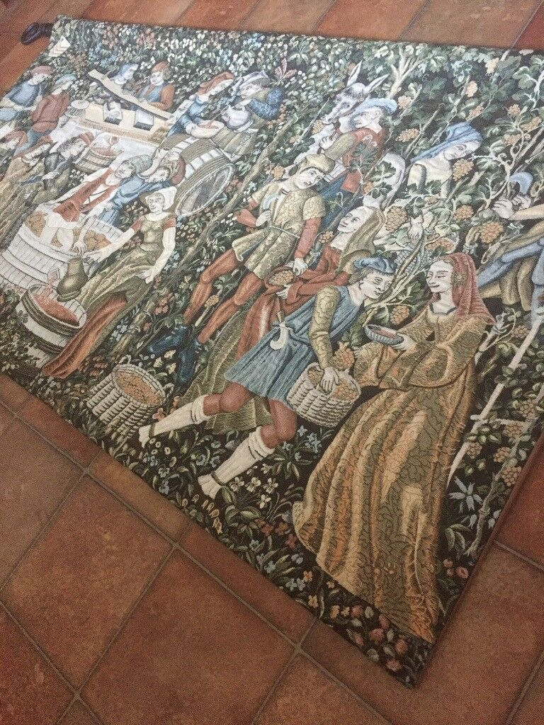 Huge Tapestry Wall Hanging French Medieval Wall Art Home Decor