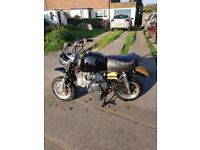 Monkeybike Monkey Bike 125cc registered as 50cc pit bike etc road legal moped motorcycle motorbike