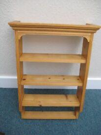 Pine display shelf unit