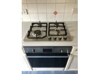 Baumatic BSO616SS 60cm Fan Oven and Montpellier GH61X 60cm gas hob