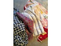 Selection of 4 women's scarves