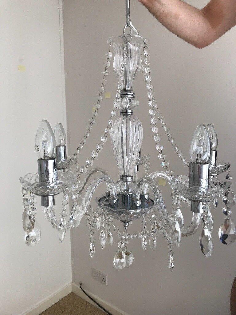 Next Stunning Avelyn 5 light crystal ceiling chandelier | in ...