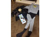 Leather jacket men's, batman costume, other goodies