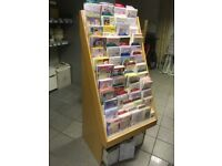 RETAIL CARD DISPLAY STAND