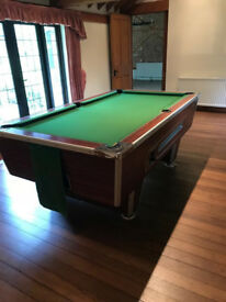 "6ft English pool table using 2"" red and yellow balls as standard, with a one piece slate bed"
