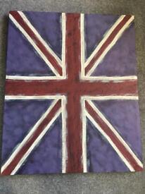 Next Union Jack wall art canvas