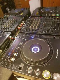 Pioneer cdj 1000 mk2s with djm 500