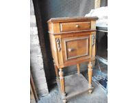 French inlaid Antique bedside cabinet