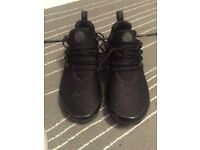 Nike air presto black size xs fits to 7-8.5 uk