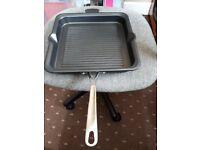 Square Griddle Pan - Cast Iron - Jasper Conran - 26cm - Black
