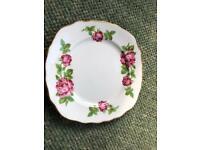 6 decorative tea plates