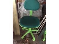 Childs desk chair green