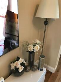 Crackle glass Lamp and Accessories