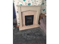 Gas fire marble surround full fire place