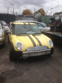 2005 BMW MINI ONE BREAKING FOR PARTS 1.6 PETROL W10-B16A MANUAL
