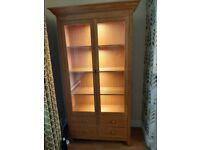 Solid oak M&S display cabinet