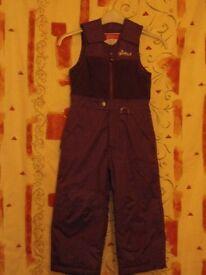 Childs Purple Snowsuit – Size: 5