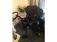 Stokke xplory limited addition with seat & carry cot & unused car seat