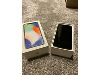 I phone X 64gb unlocked any network - all new accessories