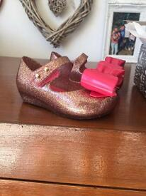 Mini Melissa toddler shoes size 19/20