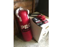 Boxing bag - by pro power - as new