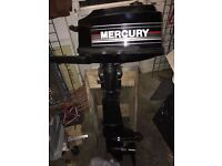 MERCURY 5HP OUTBOARD FULLY REBUILT //SUPERB//