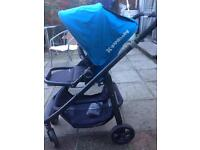UPPA BABY CRUZ compact pushchair , stroller with carrycot