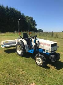 Mitsubishi compact tractor with Wessex flail