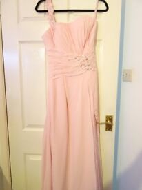 lovely pale pink bridesmaid /prom dress -size 8
