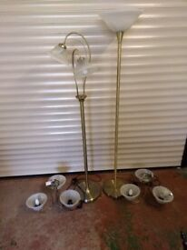 Light fittings, 2 ceiling fittings and 2 Floor Standing lamps