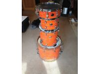 Ludwig Element SE Drum Kit in Psychedelic Orange