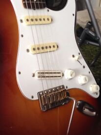 Amazing electric guitar fender stratocaster made in Japan