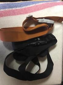 Two luggage straps