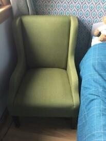 Green easy chair