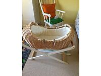 """Mothercare """"The Snug"""" Moses basket & stand"""