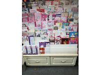 job lot (Greeting Cards Shelves)+ 200 post card for sale business closing down