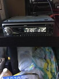 Jvc cd player £20 can fitt too iso plug 50 watt x 4 have cage mp3