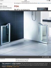 Shower door screen disabled