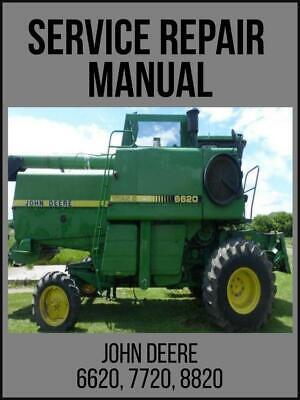 John Deere 6620 Sidehill 6620 7720 8820 Combine Technical Manual Tm1202 Usb