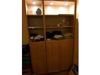 Wardrobe, cupbboard with lights.