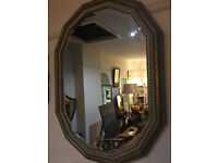 Delightful Double Gilt Frame Antique Bevelled Edge Wall Mirror