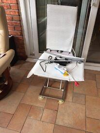 Mobility aid bath seat raiser