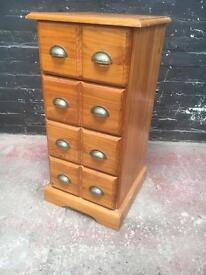 Beautiful quality solid pine cheat of drawers