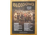 Blossoms signed promo tour poster