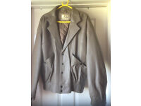 mens brown leather jacket size 40
