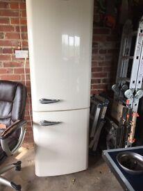 Baumatic large fridge freezer retro style on cream