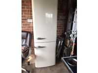 Baumatic large fridge freezer retro style on cream