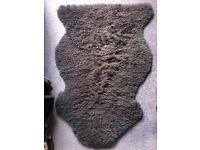 Purple Sheep Skin Rug