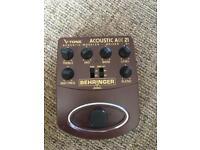 Behringer ADI 21 Acoustic Amp Modeler